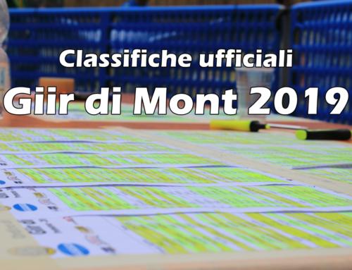 ORDINI DI ARRIVO UFFICIALI GIIR DI MONT E MINI GIIR DI MONT 2019